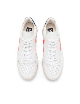 Zapatillas Veja V-10  Extra White Orange Fluor
