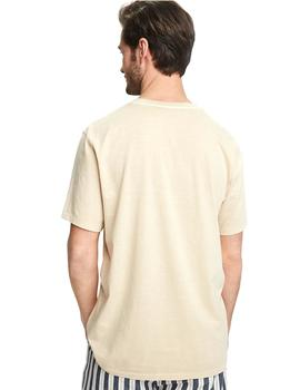 Camiseta Scotch - Soda Washed V-neck Tee Beige