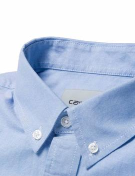 Camisa Carhartt Wip L/S Button Down Oxford Azul