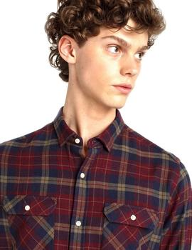 Camisa Edmmond Studios Shirt Checked Granate