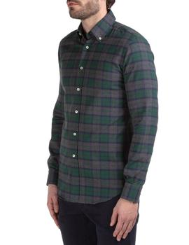 Camisa At.p.co Florida Cuadros grandes Verde Gris