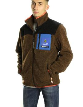 Chaqueta Scotch - Soda Colourblock Fleece Marrón