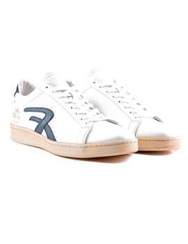 Zapatillas Replay Newtown Blancas Logo Azul