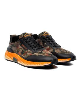 Zapatillas Replay LongView Camo Verdes Negras