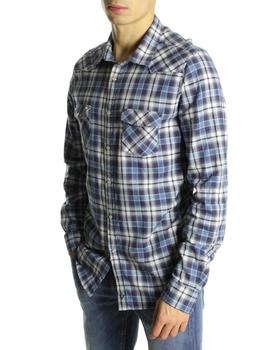 Camisa Fifty Four Cuadros Grandes Azules
